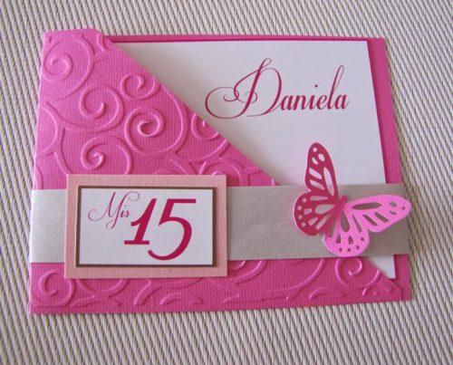 Ideas para realizar tarjetas de invitación de 15 años (13)