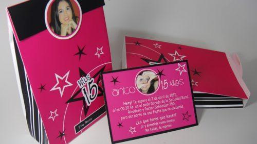 Ideas para realizar tarjetas de invitación de 15 años (3)