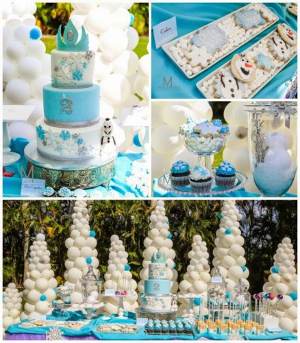 10 Diseños de decoración de quince años de frozen (7)