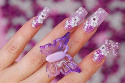 imagenes de uñas decoradas para 15 años2