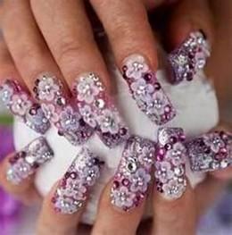 imagenes de uñas decoradas para 15 años7