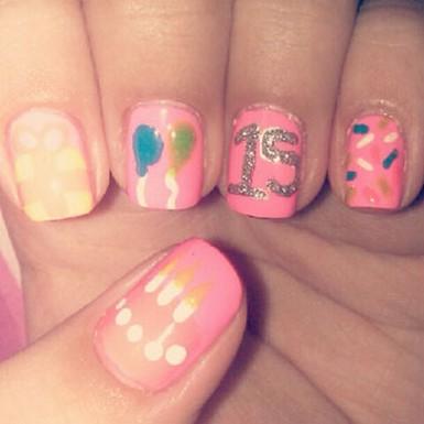 imagenes de uñas decoradas para 15 años9